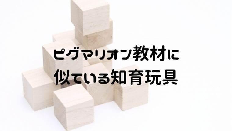 ピグマリオン教材に似ている知育玩具