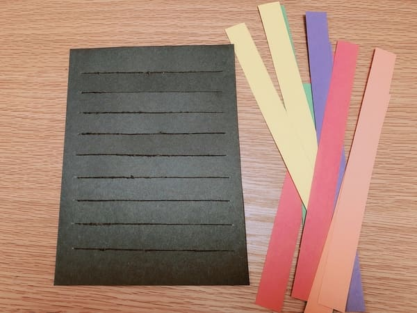 画用紙の編み方用意するもの
