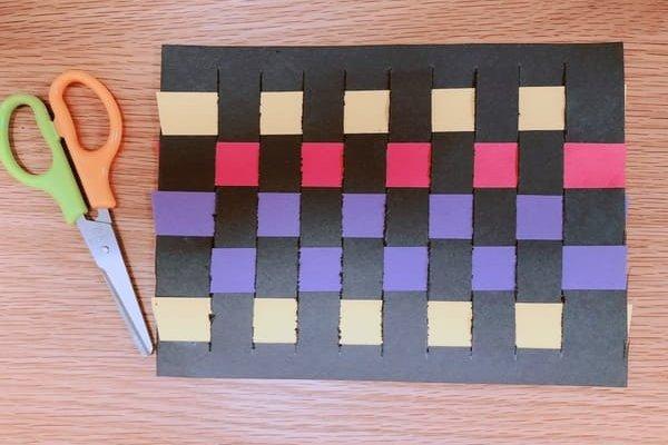 画用紙の編み方完成図